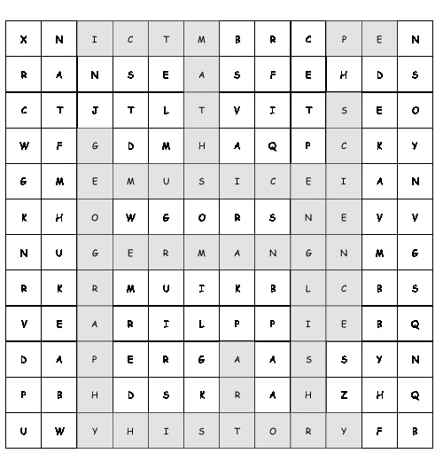 Science Hidden Facts: Word Search Subjects At School With 10 Hidden Words (PDF