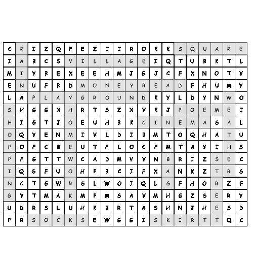 Word Search English Puzzle With 15 Hidden Words Pdf Worksheet
