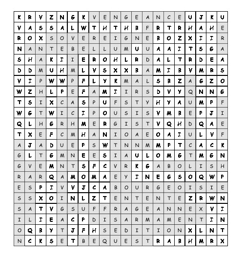 Word Search historical vocabulary with 24 hidden words (PDF